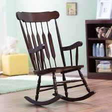 Wooden Nursery Rocking Chair Nursery Rocking Chair Home Bedroom Brown Wood Baby Nursing Rocker