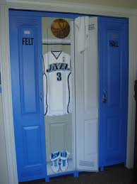 lockers for bedrooms closet doors in a sports theme bedroom lockers just need to make