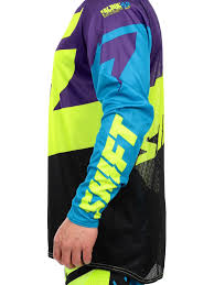purple motocross gear shift purple yellow 2016 faction mx jersey shift