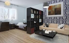 Leather Studio Sofa Amazing Ikea Studio Apartment Design With Floral 图片 和