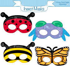 halloween mask printable insects printable masks insect masks ladybug mask bee mask