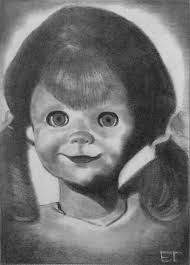 talky tina the twilight zone sketch card by avintagedreamer on