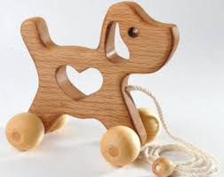 personalized wooden toy giraffe natural baby pushtoy