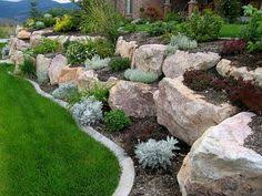 Blue Ridge Landscaping by Stone Outcropping Sedum Groundcover And Brick Pavers Installed