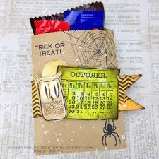 vintage muse designs mini halftone halloween treat bag