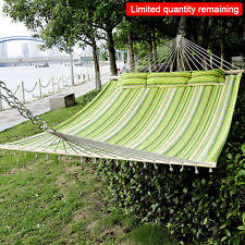 outdoor double hammock 2 person relax garden swing camping soft
