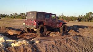 light brown jeep gopro jeep jk light crawling 1080p devils garden mud club
