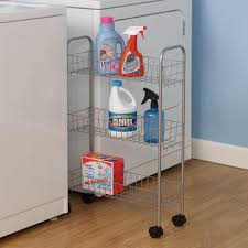 Laundry Room Storage Cart Modern Slimline 3 Shelf Utility Cart Utility Cart Storage Cart