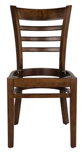 jaxpro wc05m mahogany wood ladder back dining chair w solid