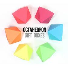 diy diamond gift boxes with free printable octahedron templates