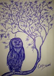 owl tree 4 design ink sketches owl in tree
