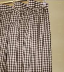 Brown Gingham Curtains Brown Gingham Check Shower Curtain