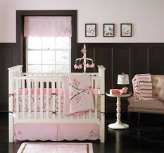 White Wall Decals For Nursery by Awesome White Wooden Canopy Crib Flower Pattern Wall Decal Cute