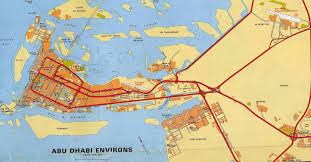 Map Of Abu Dhabi Abu Dhabi Road Map Abu Dhabi City Road Map Vereinigte Arabische