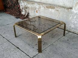 smoked glass coffee table mastercraft mid century brass smoked glass coffee table sunbeam