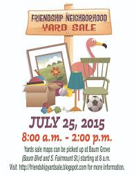 upcoming events friendship yard sale