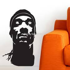 online get cheap wall decoration rap aliexpress com alibaba group snoop dogg silouette hip hop rap wall art sticker decal diy home decoration decor wall mural