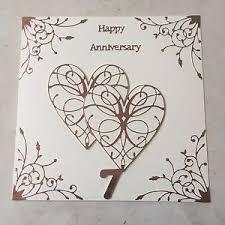 happy anniversary cards handmade copper wedding anniversary card happy 7th wedding