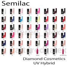 semilac hybrid nail polish 7ml varnish gel all colors soak off
