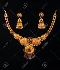 free gold necklace images Indian traditional gold necklace with earrings stock photo jpg