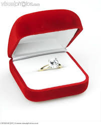 wedding ring in a box engagement ring in box background design and layout