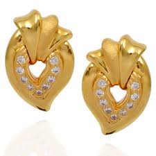 gold earring studs designs gold stud earrings in grt light weight jewellery designer gold