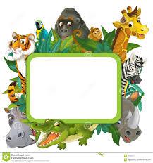banner frame border jungle safari theme illustration