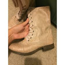 light brown combat boots steve madden shoes light tan combat boots poshmark