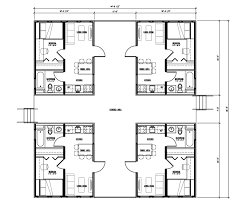 100 modern multi family building plans plan 80878pm