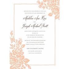 wedding invitations walmart classic floral standard wedding invitation walmart