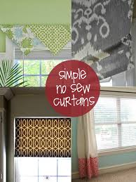 Easy No Sew Curtains Wake Up Your Window With One Of These Easy No Sew Projects