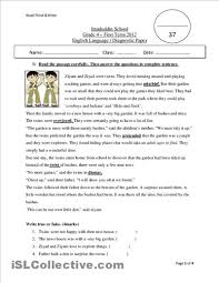 4th grade reading comprehension worksheets students worksheets