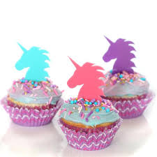 cupcake toppers purple unicorn cupcake topper wants and wishes