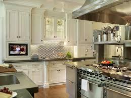 hkitc kitchen stainless steel tile backsplashes s rend hgtvcom large size rs peter salerno stainless steel kitchen white cabinets s rend hgtvcom
