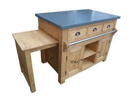 meuble central cuisine ilot central de cuisine plateau façon ardoise