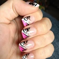 prev next pink black nails pink black yin yang nail art tutorial
