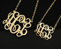 3 initial monogram necklace sterling silver 2 inch monogram necklace 3 initial necklace 18k gold sterling