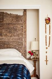 Ideas For Brass Headboards Design Classic Bedroom Design With Moroccan Carved Headboard Ideas