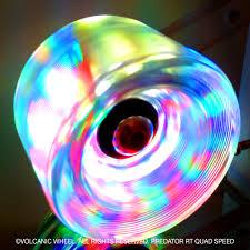 light up roller skate wheels volcanic self lightup skate wheels quad roller speed skate wheels