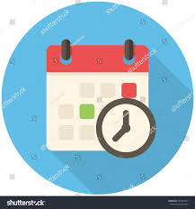 meeting deadlines modern flat icon long stock vector 234405721