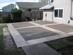 Backyard Cement Patio Ideas Concrete Backyard Patio Ideas Home Design Ideas