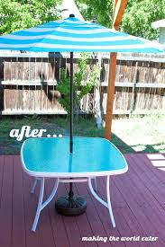 outdoor glass table top replacement outdoor glass table glass patio table makeover from making the world
