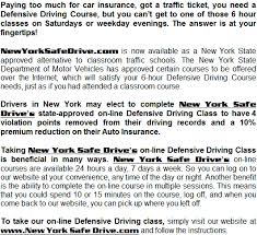 6 hours class online new york safe drive online driving school new york defensive