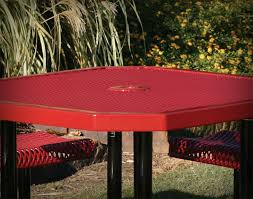 Red Cedar Octagon Walk In Picnic Table by 46