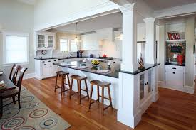 Red Kitchen Lights by Column Design Ideas Kitchen Beach Style With Hardwood Flooring