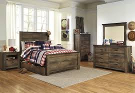 King Bedroom Sets With Storage Under Bed Signature Design By Ashley Trinell Loft Bed W Stairs Bookcase