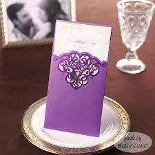 purple wedding invitations laser cut wedding invitations biziv promotional products
