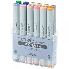 copic sketch marker ex3 pastel colours 12 pack copic from