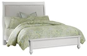 Upholstered Footboard Vaughan Bassett French Market Queen Bed W Upholstered Headboard