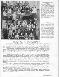 year book maker columbus high school chs 1940 yearbook log clubs student
